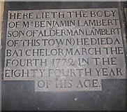 TA0339 : Beverley Minster: ledger slab (u) by Basher Eyre