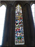 TA0339 : Beverley Minster: stained glass window (II) by Basher Eyre