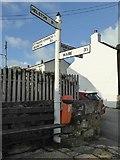 SW7336 : Roadsign in Stithians by Philip Halling
