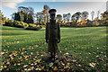 SJ8546 : Tom Brown Tivey Statue, Brampton Park by Brian Deegan