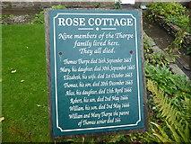 SK2176 : Information board at Rose Cottage, Eyam by Marathon