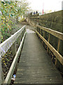 SE2635 : Ramp down from Kirkstall Bridge approach by Stephen Craven