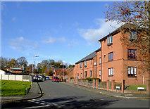 SO9596 : Bridge Street east of Bilston town centre, Wolverhampton by Roger  Kidd
