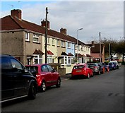 ST3186 : Lime Close houses and cars, Newport by Jaggery
