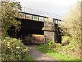 SJ3697 : Ormskirk line railway bridge by Stephen Craven