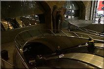 TQ3179 : Escalators in Waterloo Station, London by Mike Pennington