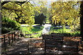 TQ4376 : Path to rose garden, Severndroog Castle by M J Roscoe