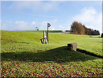 SD6277 : Footpath Sign and Broken Stile at Whoop Hall by David Dixon