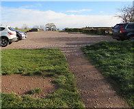 SO3216 : National Trust car park, Llanddewi Skirrid by Jaggery