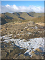 NY3414 : The Helvellyn range from Hutaple crag by Karl and Ali