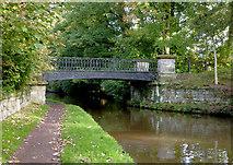 SJ9922 : Footbridge across the canal near Great Haywood, Staffordshire by Roger  Kidd