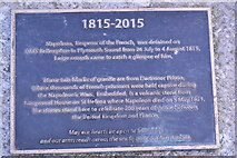 SX4853 : Plaque, Napoleon Stone by N Chadwick