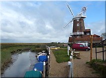 TG0444 : Cley Windmill next to the River Glaven by Mat Fascione