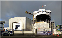 NS3274 : MV Glen Sannox under construction by Thomas Nugent