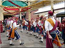 SD8010 : Morris Men at Bolton Street Station by David Dixon
