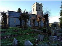 SU1872 : Church and grave yard at Ogbourne St Andrew by Rob Purvis