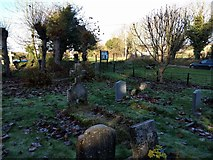 SU1872 : Grave yard at Ogbourne St Andrew church by Rob Purvis