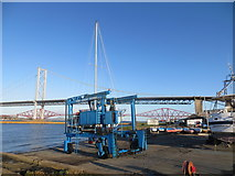 NT1278 : Yacht being lifted from the River Forth at Port Edgar Marina by John Ferguson