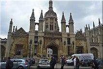 TL4458 : King's College gateway by N Chadwick