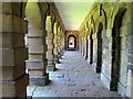 NZ3276 : East wing arcade, Seaton Delaval Hall by Andrew Curtis