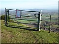 SO7641 : Gate and electric fence on the Malvern Hills by Philip Halling