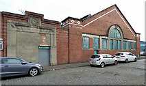 NS4864 : Former Galbraith's Stores warehouse by Thomas Nugent