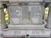 TM5286 : Names of the fallen on the Kessingland war memorial 2 by Helen Steed