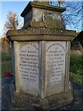 TM4077 : Names of the fallen on the Holton War Memorial 2 by Helen Steed