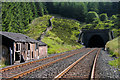 SD7783 : Disused buildings on approach to Bleamoor Tunnel by Trevor Littlewood