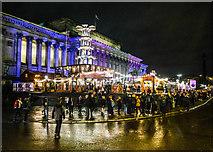 SJ3490 : Christmas Market, St George's Hall, Liverpool by Matt Harrop