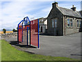 NX4251 : School playground at Kirkinner by Trevor Littlewood