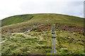 SJ0734 : Railway sleepers on Bwlch Maen Gwynedd by Bill Boaden