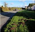 SO3808 : Molehills at the edge of Old Abergavenny Road near Raglan by Jaggery