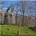 SH5571 : Gorsedd Circle and Menai Suspension Bridge, Anglesey by Robin Drayton