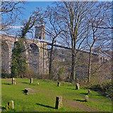 SH5571 : Gorsedd Circle and Menai Suspension Bridge, Anglesey by Robin Drayton