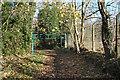 TQ0781 : Barrier on Moorcroft Lane by Des Blenkinsopp