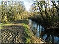 ST0381 : Footpath beside the Afon Clun, Pontyclun by John Lord