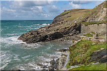 SX0589 : Tintagel Haven by Ian Capper