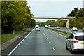 SJ1775 : Bridge over the A55, North of Brynford by David Dixon