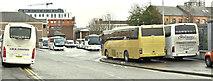 J3374 : Durham Street coach park, Belfast (December 2017) by Albert Bridge