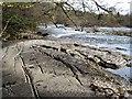 NZ1114 : Water worn rock slabs by the Tees : Week 48