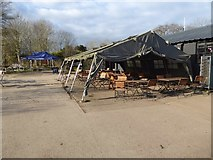 SO8845 : Mess tent at Croome Park by Philip Halling