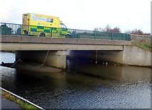 J3731 : Emergency ambulance crossing the Shimna Road Bridge by Eric Jones