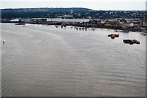 TQ4079 : Jetties on the River Thames by N Chadwick