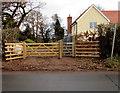 SO3828 : Pontrilas Road gate to a public footpath, Ewyas Harold by Jaggery