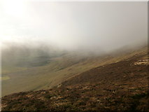 NS9533 : Misty view from southern side of Tinto by Alan O'Dowd