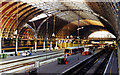 TQ2681 : Paddington station, to barriers from footbridge, 1997 by Ben Brooksbank