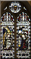 TQ3763 : St Mary the Blessed Virgin, Addington - Stained glass window by John Salmon
