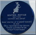 SN1300 : Beatrix Potter blue plaque, Tenby by Jaggery