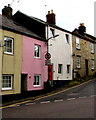 ST1600 : Pink house, Queen Street, Honiton by Jaggery